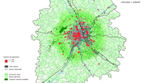 Localisation à l'adresse des logements autorisés en 2013
