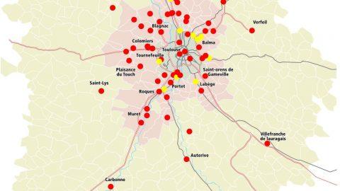 Les drives dans l'aire urbaine de Toulouse