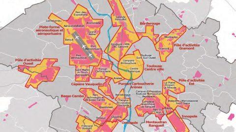 Les pôles économiques de l'agglomération toulousaine
