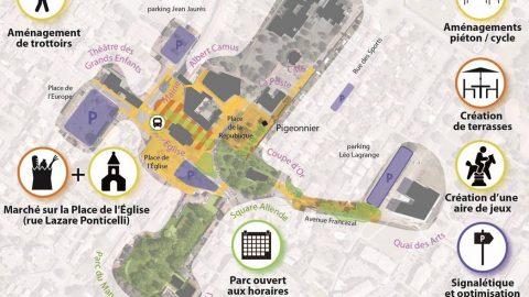 Un centre-ville animé et accessible pour tous