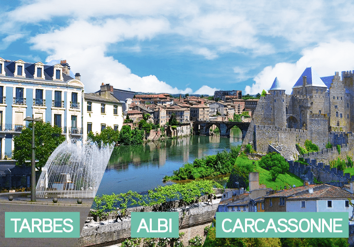 Points communs et différences entre Tarbes, Albi et Carcassonne